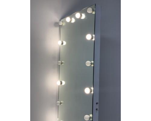 Безрамное гримерное зеркало с подсветкой 200х80