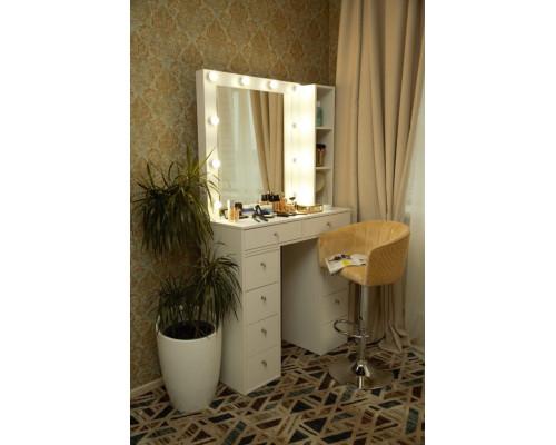 """Гримерный столик и стеллаж 100х100 с зеркалом 80х80 """"Мария"""""""